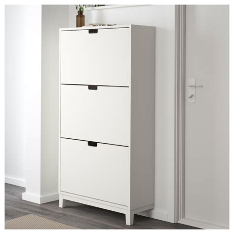 ikea shoe storage st 196 ll shoe cabinet with 3 compartments white 79x148 cm ikea