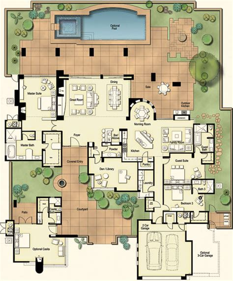 hacienda floor plans with courtyard residences at the ritz carlton tucson floor plan
