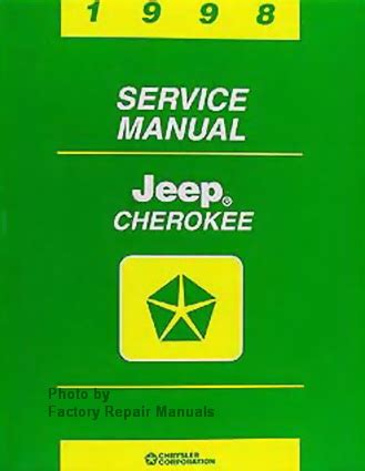 1998 jeep factory service manual original shop