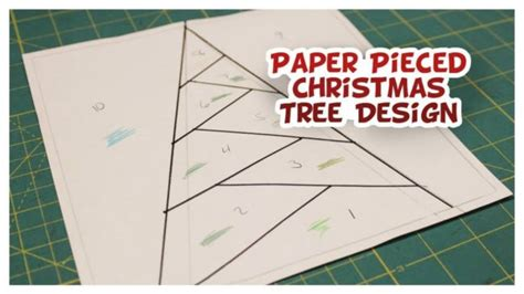 pattern for paper pieced christmas tree christmas mug rug holiday how to whitney sews
