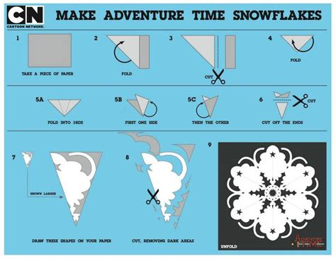 Make Your Own Snowflake Out Of Paper - adventure time lumpy space princess snowflake for