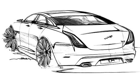 jaguar cars coloring pages jaguar xj exterior sketch cars coloring pages jaguar xj