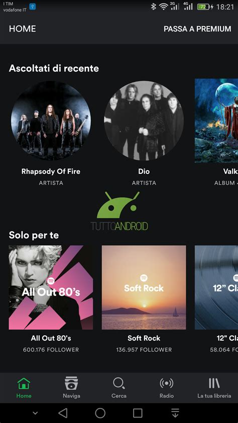 spotify beta apk spotify beta sposta i controlli in una barra inferiore tutto android