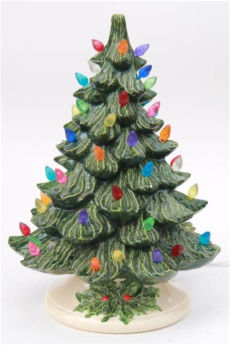 ceramic tree plastic lights retro ceramic tree lighted electric tabletop