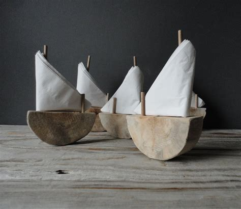 Handmade Napkins - handmade driftwood sailboat napkin holder
