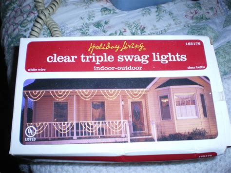 free christmas clear triple swag lights christmas