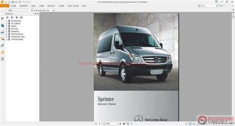 best car repair manuals 2011 mercedes benz sprinter 2500 seat position control mercedes sprinter service manuals part manual operator