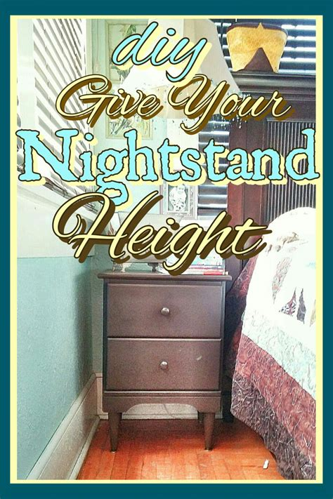How To Make A Nightstand by How To Add Height To Your Nightstand Your Craft