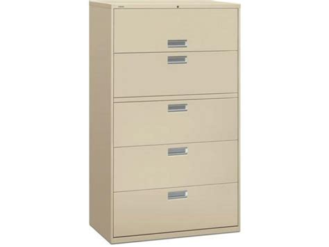five drawer file cabinet 600 series 5 drawer lateral file cabinet hon 695 metal
