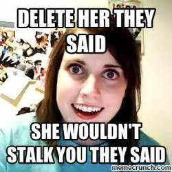 Stalking Meme - funny memes about stalkers book covers