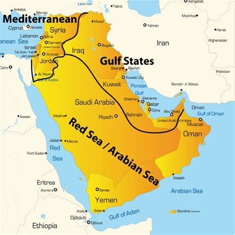 middle east map sea sea map showing iconic tourist attractions