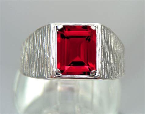 images  mens ruby rings  pinterest