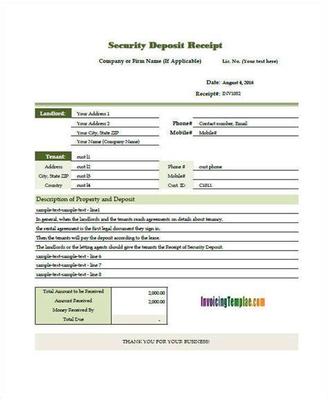 deposit invoice template 5 deposit invoice templates free sle exle