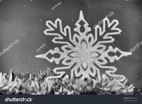 black white christmas themed image snowflake stock photo