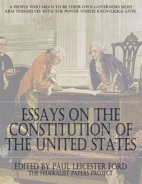Essay About The Constitution Of The United States by Essays On The Constitution Of The United States