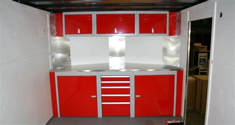 race car trailer cabinets sportsman ii mobile enclosed trailer cabinets moduline