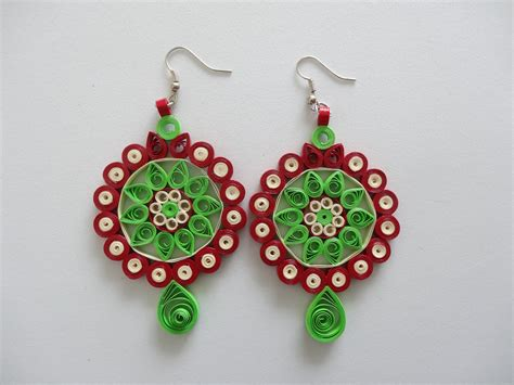 Handmade Quilling Paper - all handmade paper quilled earrings quilling