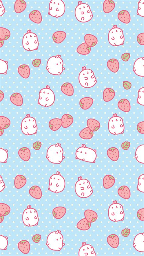 android background pattern repeat cute hamster and strawberry wallpaper we heart it cute