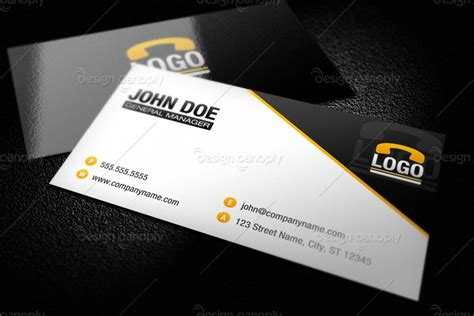 international business card template modern business card