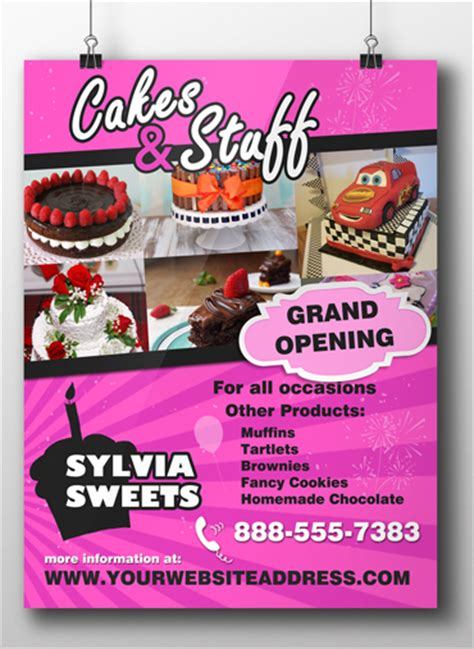 cake flyer template free cakes stuff cake flyer template