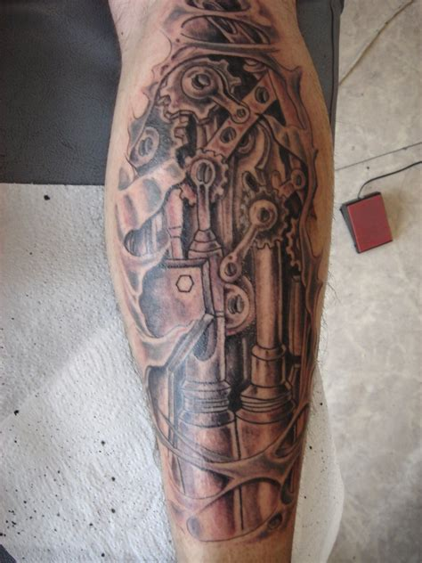 mechanical tattoo design mechanical tats on mechanical
