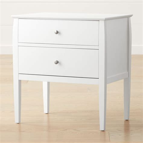 Cheap White Nightstand by 2 Drawer White Nightstand Reviews Crate And Barrel