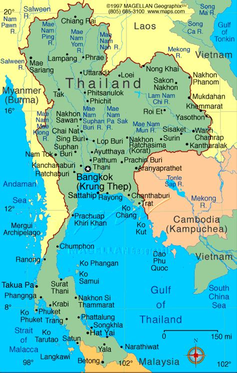 map of thailand country ethemes country thailand