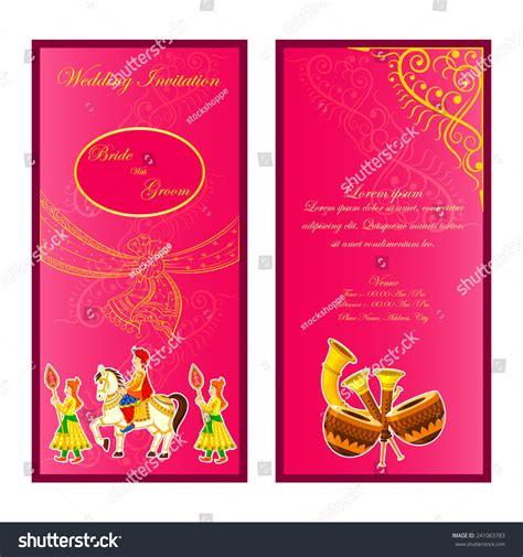 indian wedding cards vector vector illustration indian wedding invitation card stock