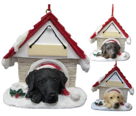 lab dog house labrador retriever gifts com lab christmas ornaments decor