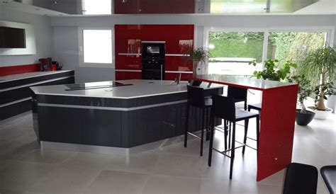 cuisine equipee modern kitchen with island sensations model
