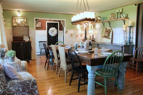 farmhouse table lighting dining room shabby chic style