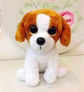 ty beanie boos cookie dog brown white plush dog toys 15cm ty big eyes plush animals children