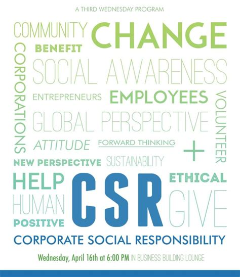 Responsibility Of Mba Marketing by Csr Flyer School Of Business
