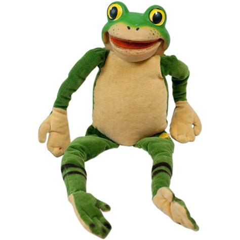 frog rubber st 1960s steiff velvet frog with rubber riveted button