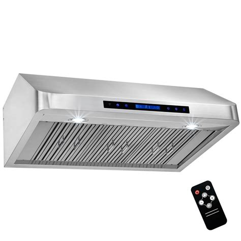 remote control through cabinet doors akdy 36 in under cabinet range hood in stainless steel