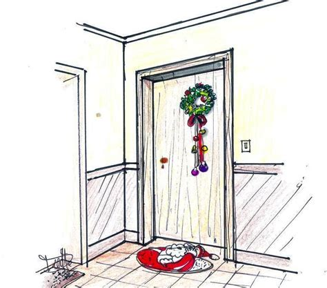 decorazioni natalizie porta ingresso addobbi natalizi