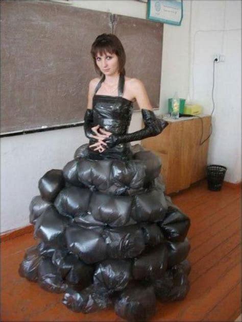 trashy garbage bag dress funny faxo