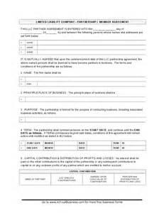 Llc Partnership Agreement Template by Llc Partnership Agreement Hashdoc