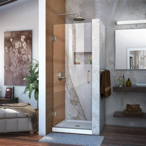 23 Shower Door Shop Dreamline Unidoor 23 In To 23 In Brushed Nickel