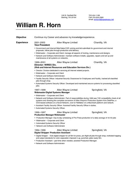 Resume Up Resume Set Up Sles Free Resumes Tips