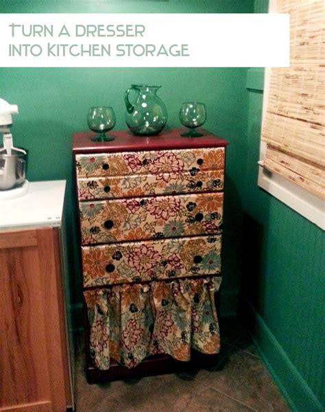 diy furniture diy furniture redo use a dresser for easy kitchen storage