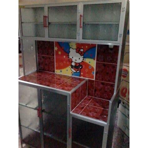 Rak Piring Rak Tiris Hellokitty rak piring magic 3 pintu warna merah dengan gambar
