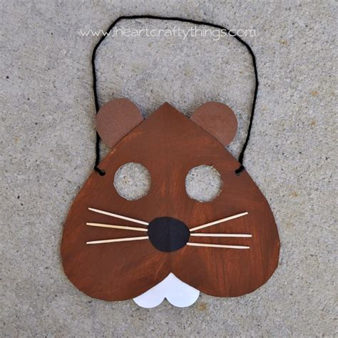 groundhog day crafts groundhog day mask craft i crafty things