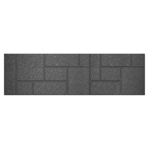 envirotile 10 in x 36 in rectangular rubber cobblestone
