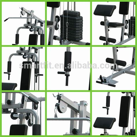Alat Multi Station Home Hg 001 2 Sisi Pro Total Fitness sale home commercial one station home with 100 lb free weight stacks buy one station