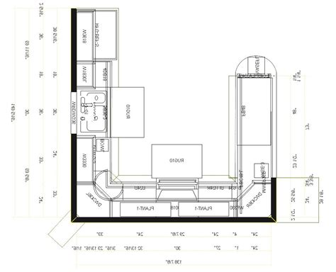 best kitchen floor plans the best kitchen floor plans design ideas pictures