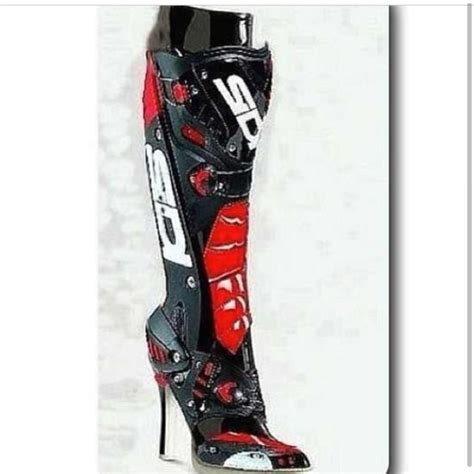 womens motorcycle boots with heels sidi high heel boots for motorcycle on the hunt