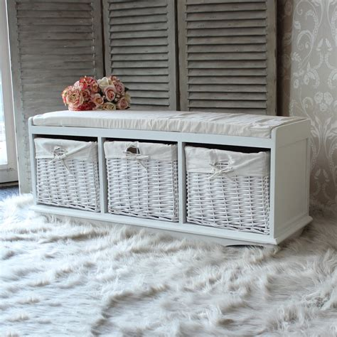 white wicker storage bench white wicker storage bench melody maison 174