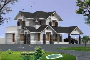2200 sqft 4 bed room house 3d exterior view home design inspiration