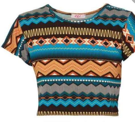 tribal pattern crop top shirt crop tops tribal pattern wheretoget